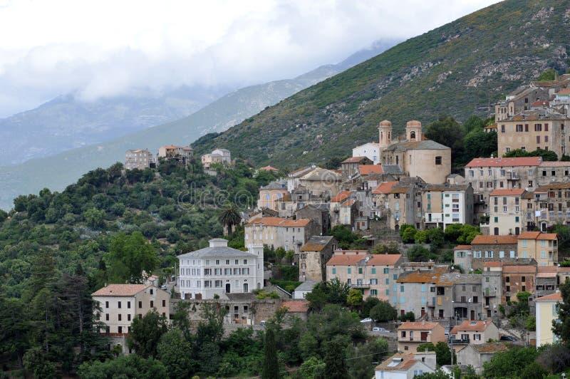 By av Oletta i Korsika, Frankrike fotografering för bildbyråer