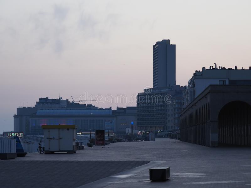 Av oostende tidigt på morgonen arkivbilder