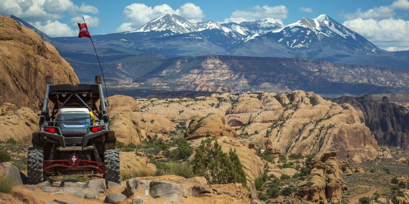 Av pano för berg för Sal för vägmedel och Lai Moab royaltyfria foton