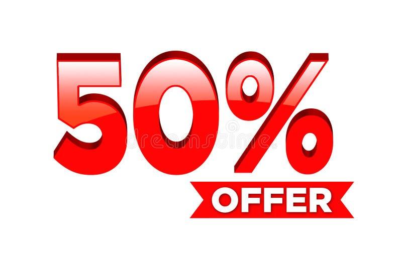 50 av procent vektor illustrationer