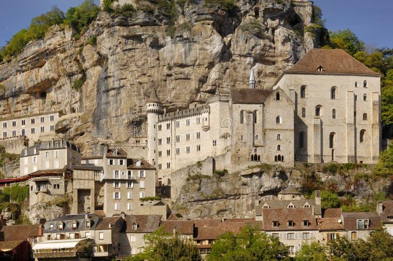 By av Rocamadour i Midi-Pyrenees, Frankrike royaltyfri fotografi