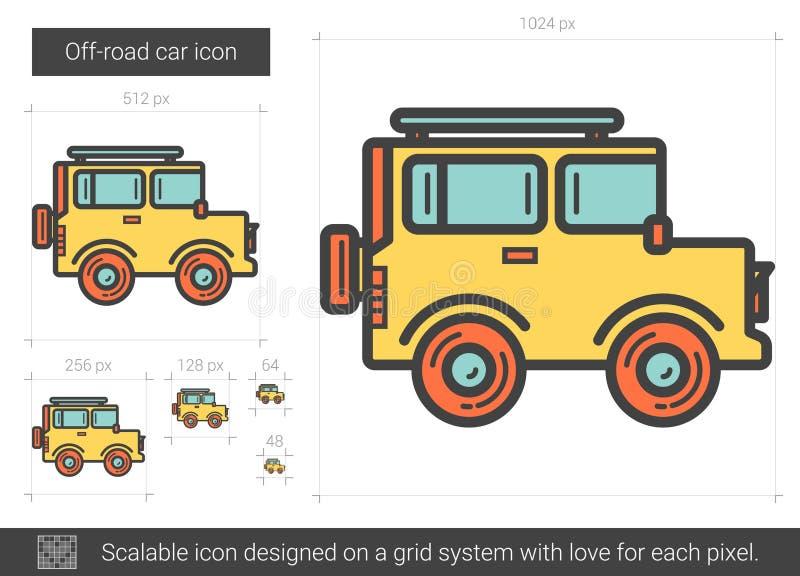 Av-väg billinje symbol stock illustrationer