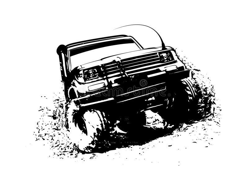 Av vägen 4WD royaltyfri foto