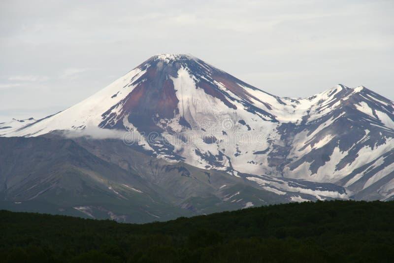 Avacha-Vulkan oder Avachinskaya Sopka stockbilder