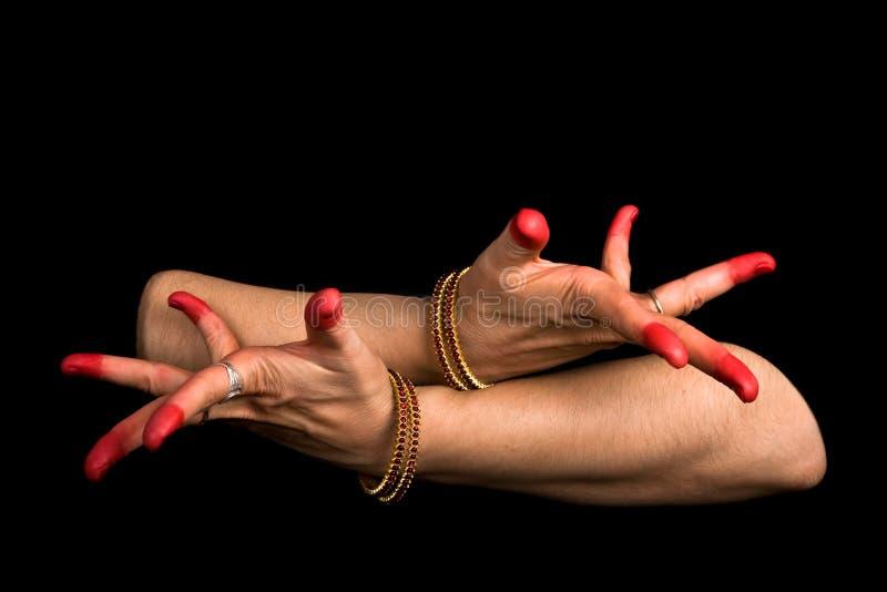 Avahittha hasta des indischen Tanzes Bharata Natyam lizenzfreie stockfotos