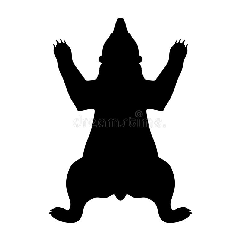 Bear skin silhouette vector illustration