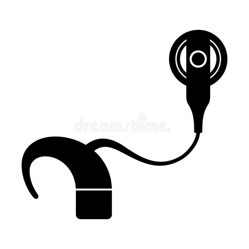 Cochlear implant stock illustration