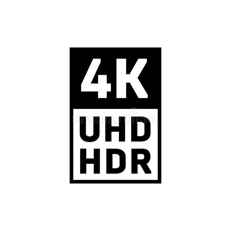 4K Ultra HD HDR symbol vector illustration