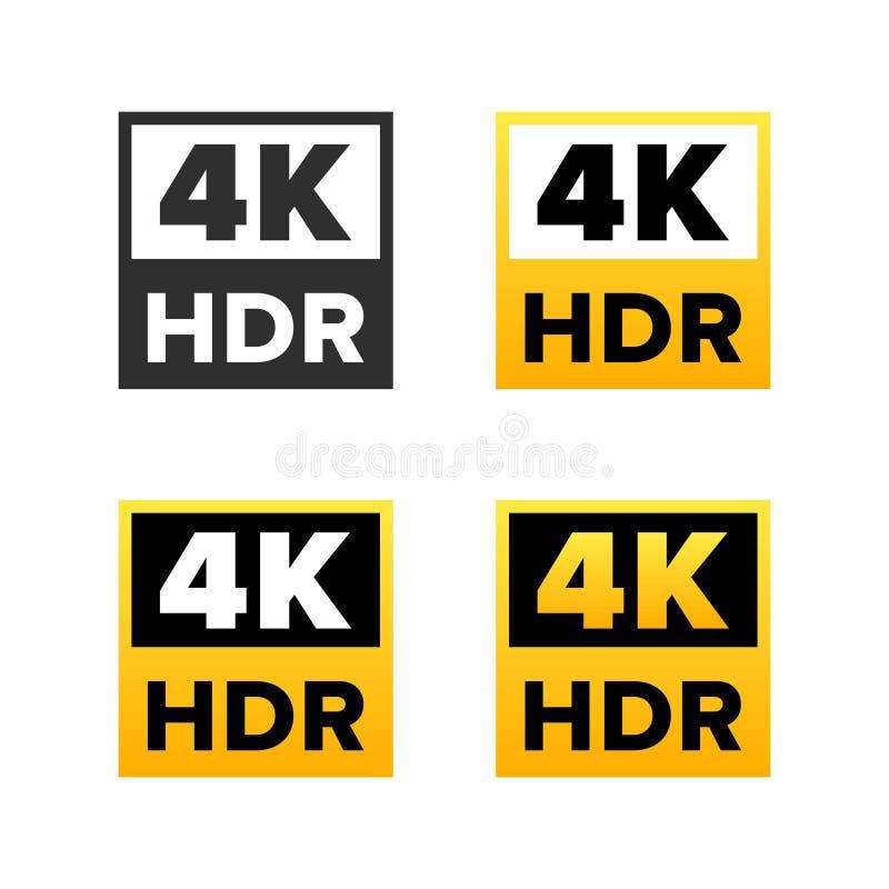 4K Ultra HD sign royalty free illustration