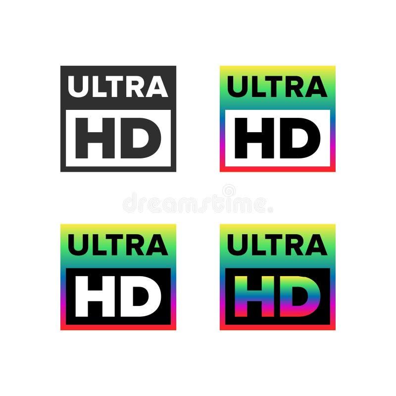 Ultra HD symbol vector illustration