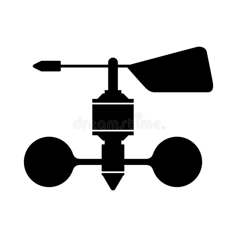 Wind speed sensor. Available in high-resolution and several sizes to fit the needs of your project royalty free illustration
