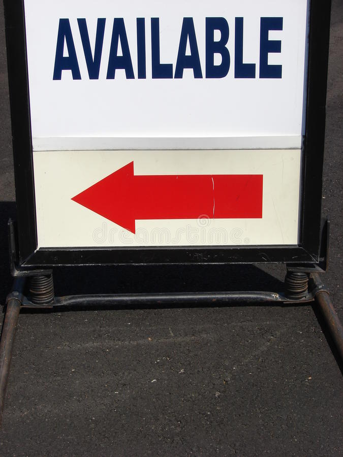 available sign