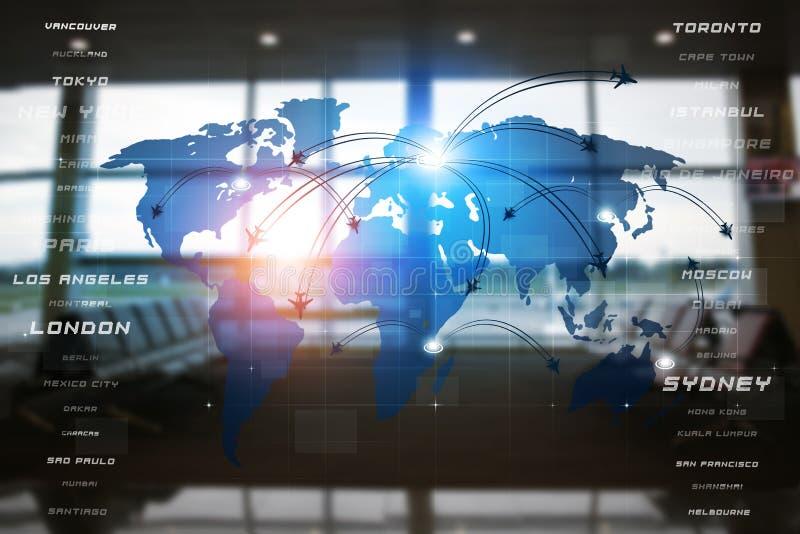 Avaitaion Bedrijfsinterface vector illustratie