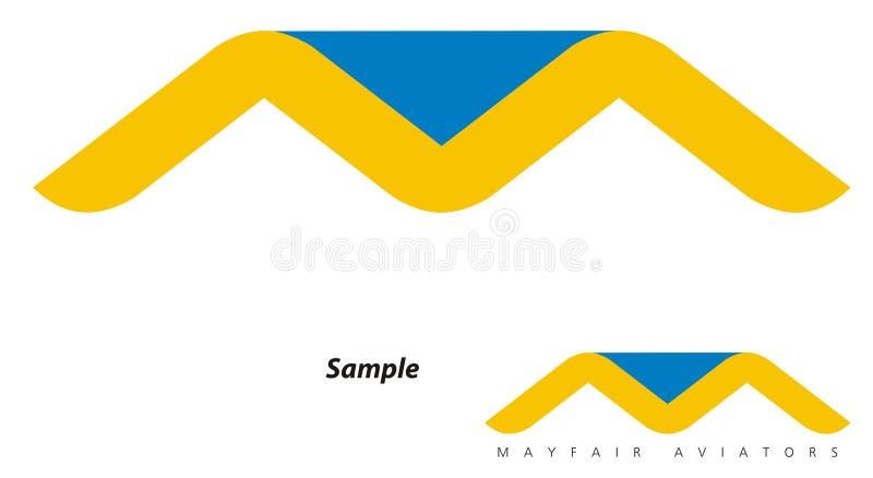 avaition公司徽标旅行 向量例证