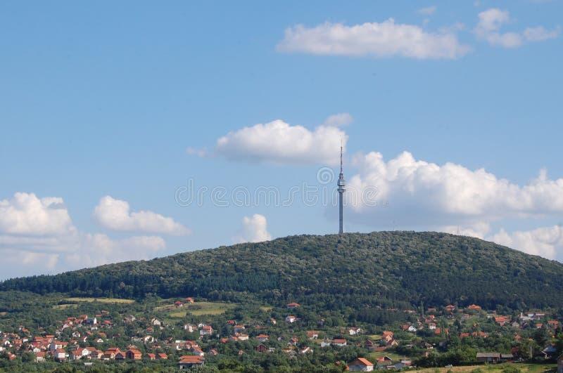 Avala,山在贝尔格莱德的郊区 免版税库存照片