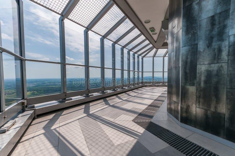 Avala Kontrollturminnenraum lizenzfreies stockfoto