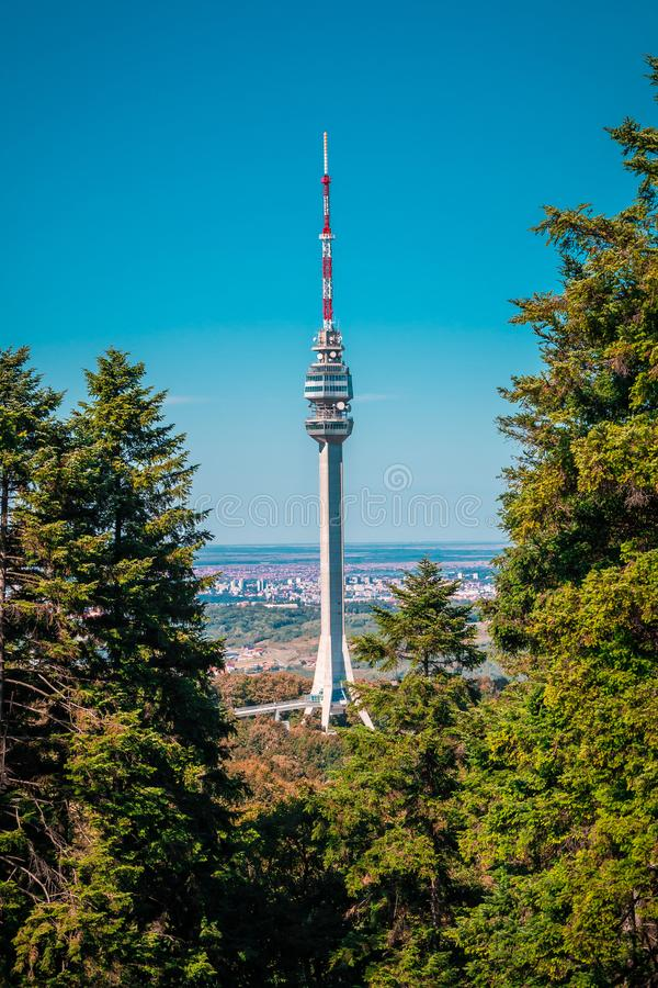 Avala-Turm Serbien stockfoto