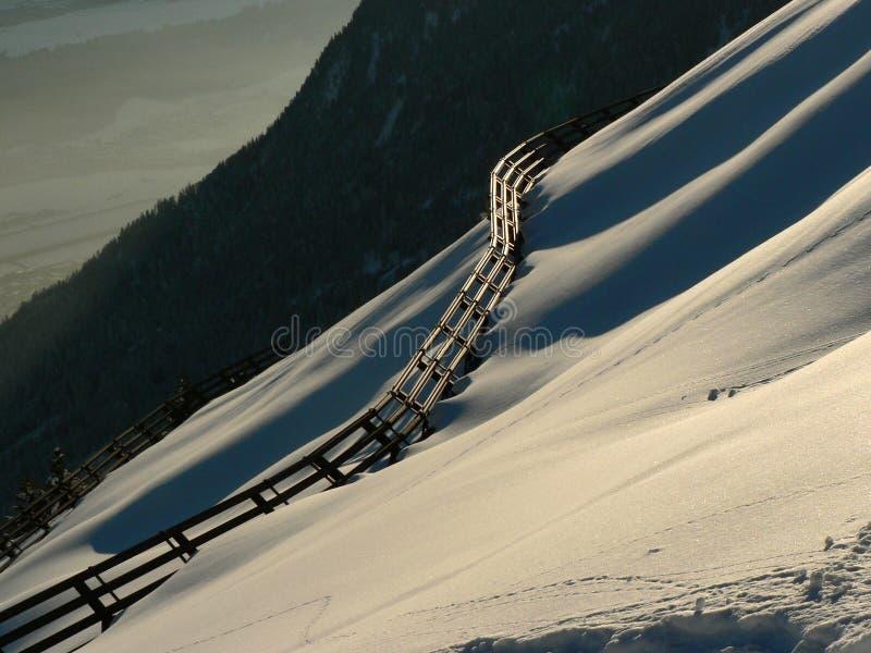 Avalancha-barrera fotografía de archivo