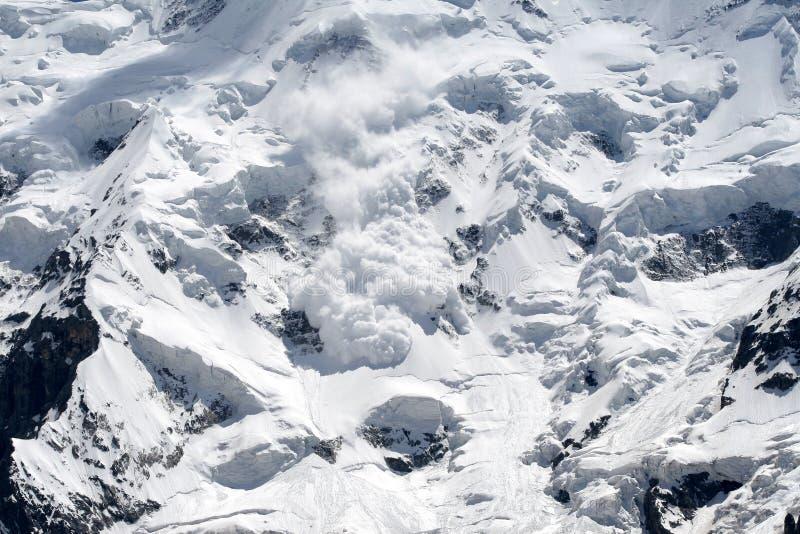 Avalancha da neve fotografia de stock