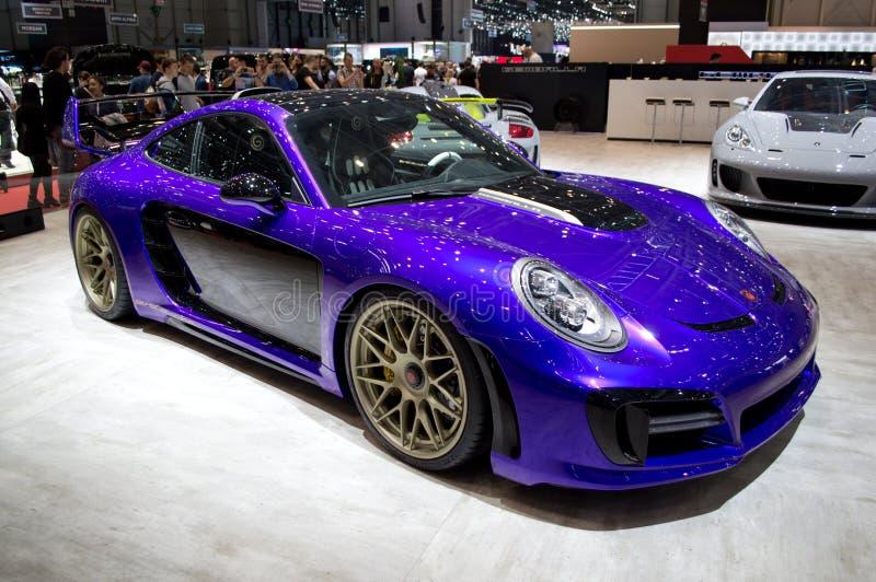 Avalancha de Gemballa Porsche 911 en Ginebra 2017 imagen de archivo libre de regalías