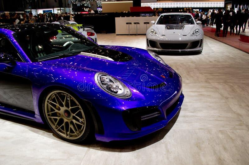 Avalancha de Gemballa Porsche 911 en Ginebra 2017 imágenes de archivo libres de regalías
