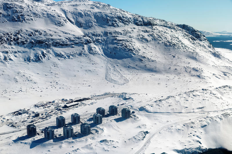 Avalancha de la nieve en Qinngorput fotografía de archivo libre de regalías