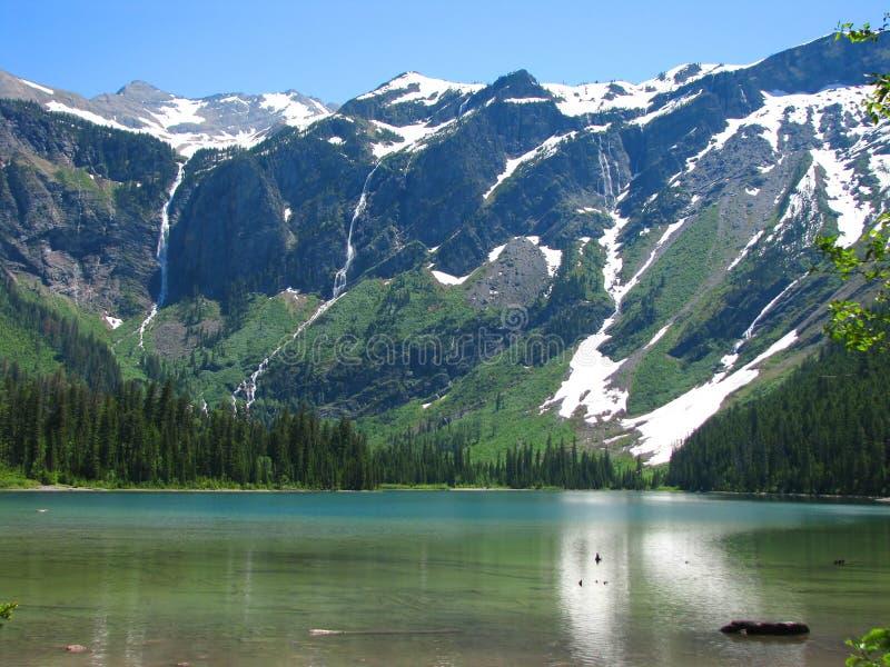 Avalanche de lac images libres de droits