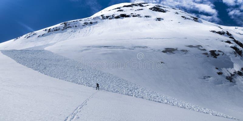 Avalanche et montagne photo libre de droits