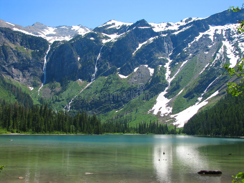 avalanche jeziora obrazy royalty free