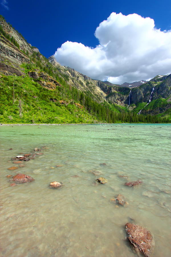 Download Avalanche Lake of Montana stock photo. Image of parkland - 25354402