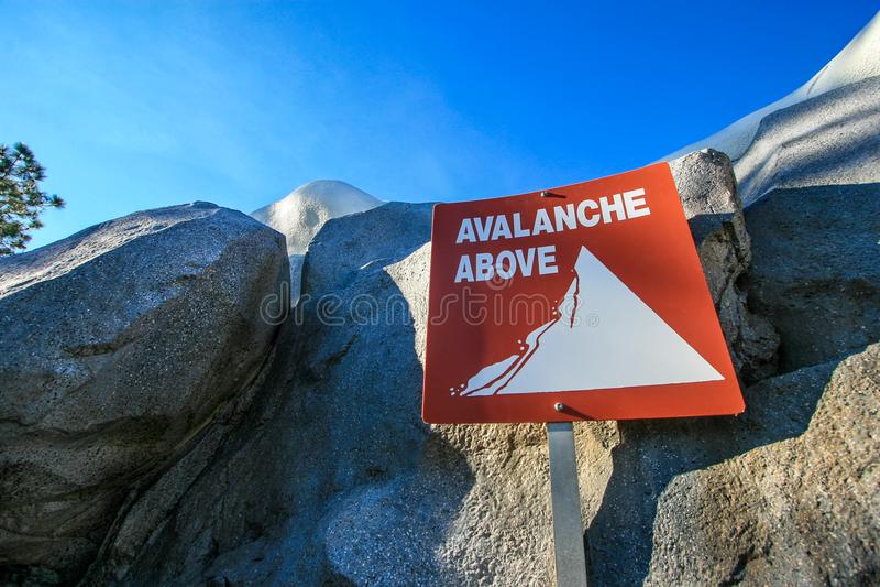 Avalanche Sign stock photos