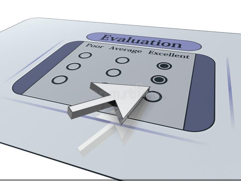 Avaliação ilustração do vetor