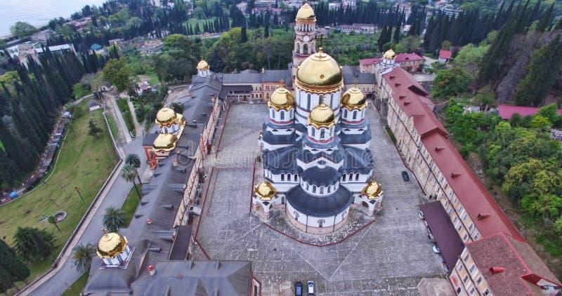 Avaliação aérea das vistas de Athos novo imagens de stock