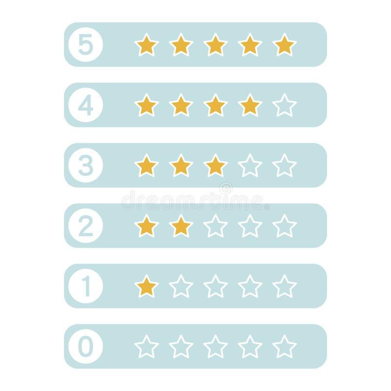 Avaliação das estrelas Ilustrador do vetor ilustração stock