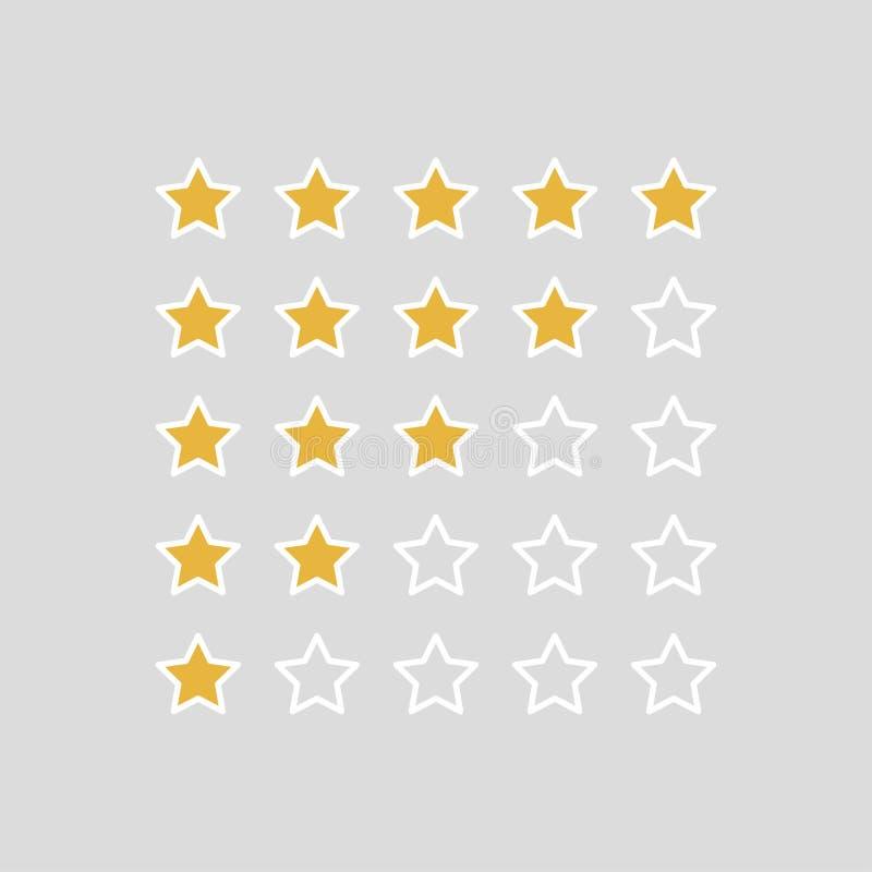 Avaliação das estrelas Ilustrador do vetor ilustração royalty free