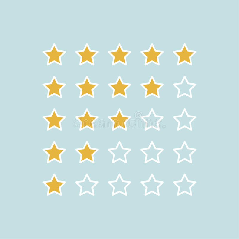 Avaliação das estrelas Ilustrador do vetor ilustração do vetor