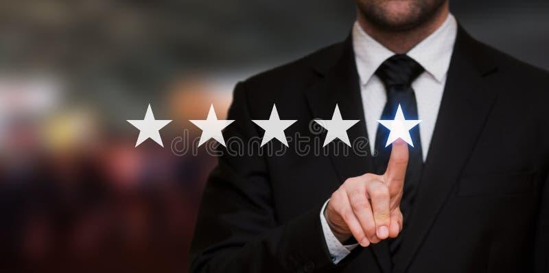 Avaliação de cinco estrelas imagens de stock royalty free