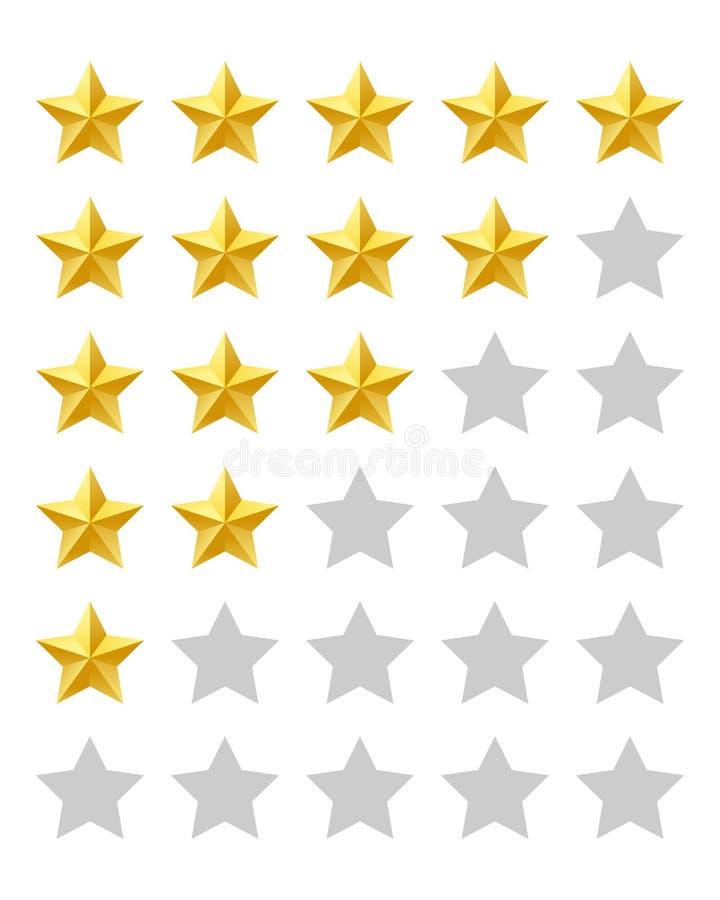 Avaliação de cinco estrelas ilustração royalty free