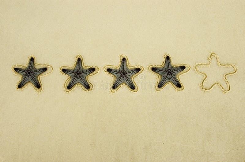 Avaliação de quatro estrelas imagem de stock royalty free