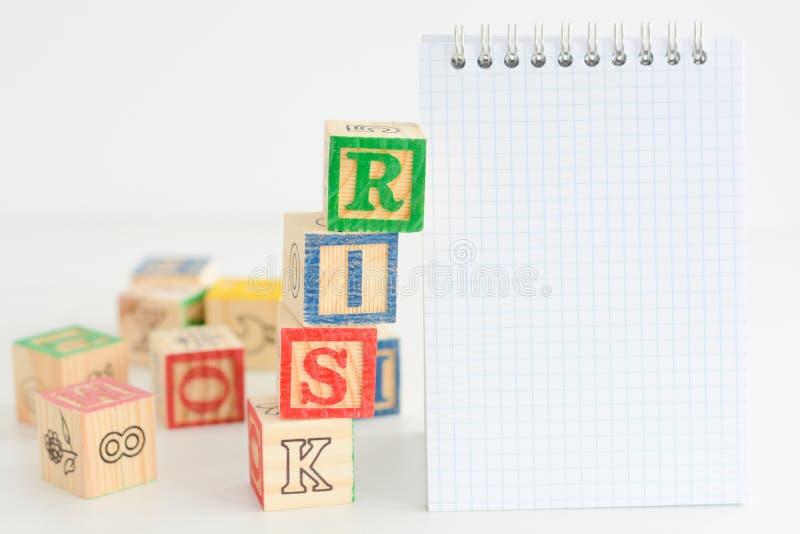 Avaliação de risco ou plano de gestão imagem de stock