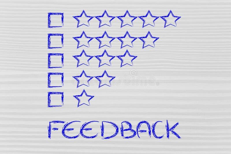Avaliação e feedback foto de stock royalty free