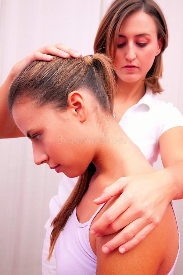 Avaliação técnica Osteopathic para a espinha cervical foto de stock royalty free