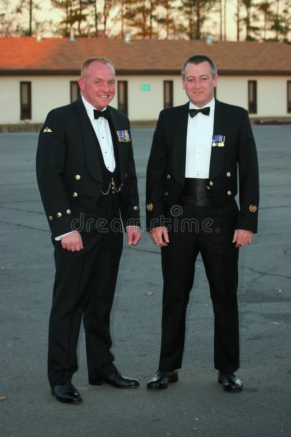 Avaliações navais sênior fotos de stock royalty free