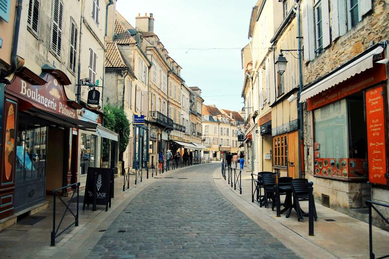 Avallon, a small city in valley, Bourgogne, France royalty free stock photography
