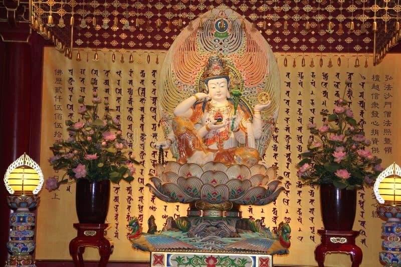 Avalokitesvara sob a forma da roda de Cintamani fotos de stock