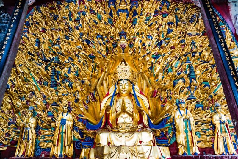 Avalokitesvara z Tysiąc rękami obraz stock