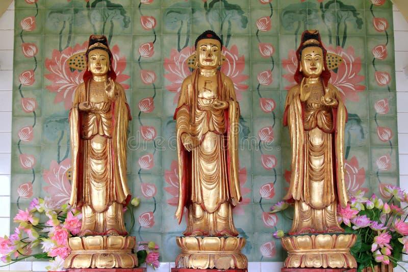 Avalokiteswara - Kuan尹雕象 库存照片
