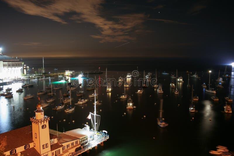 Avalon Bay Catalina Night images stock