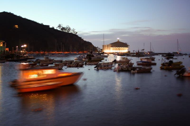 Avalon Bay Catalina Sunset image stock