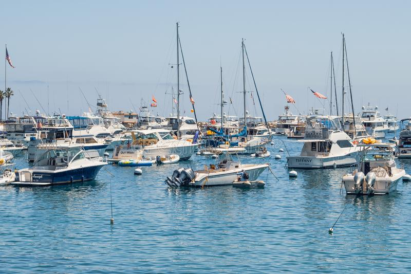 Avalon Harbor, Catalina Island, CA image stock